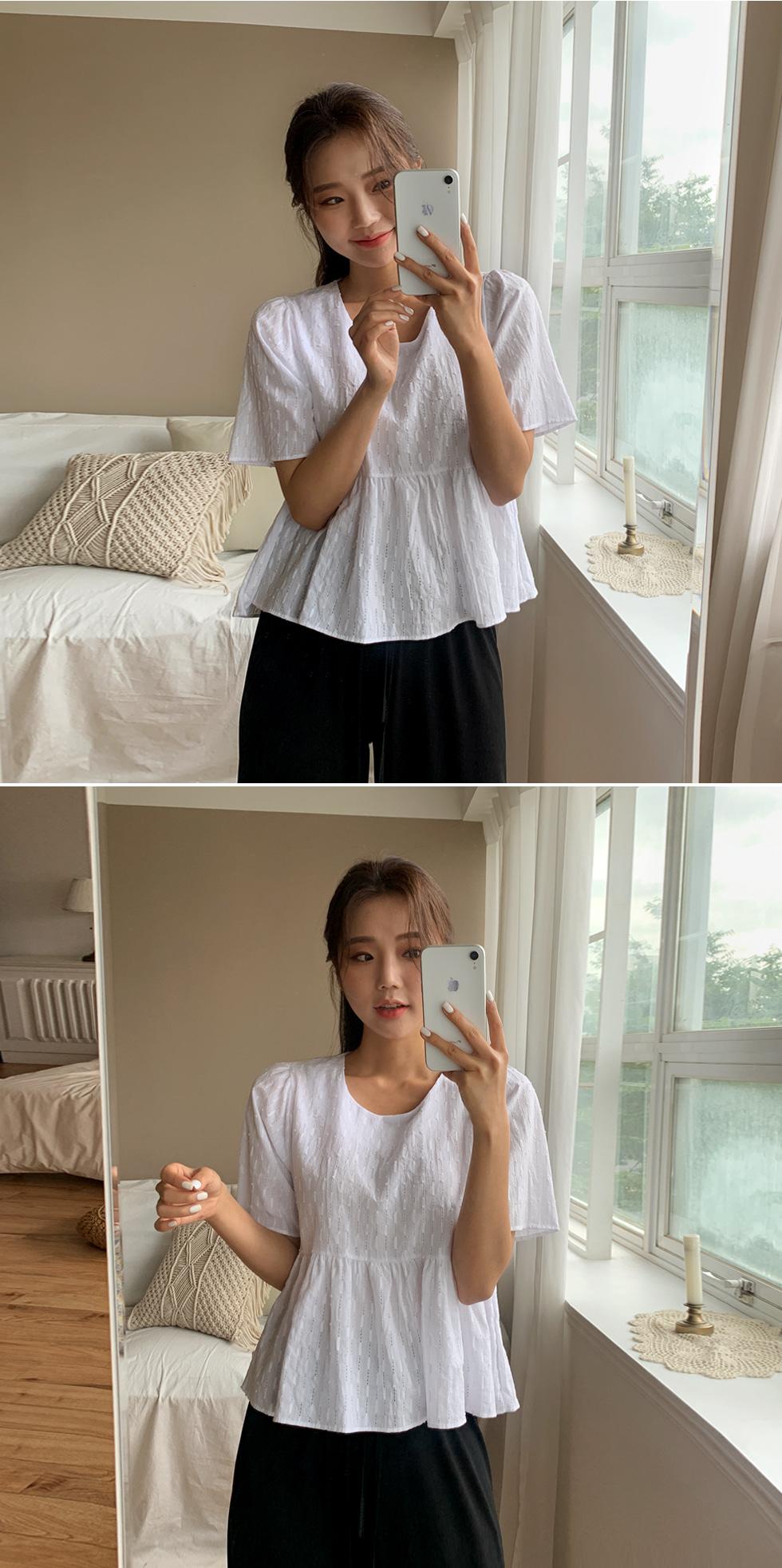 A-pop corn blouse