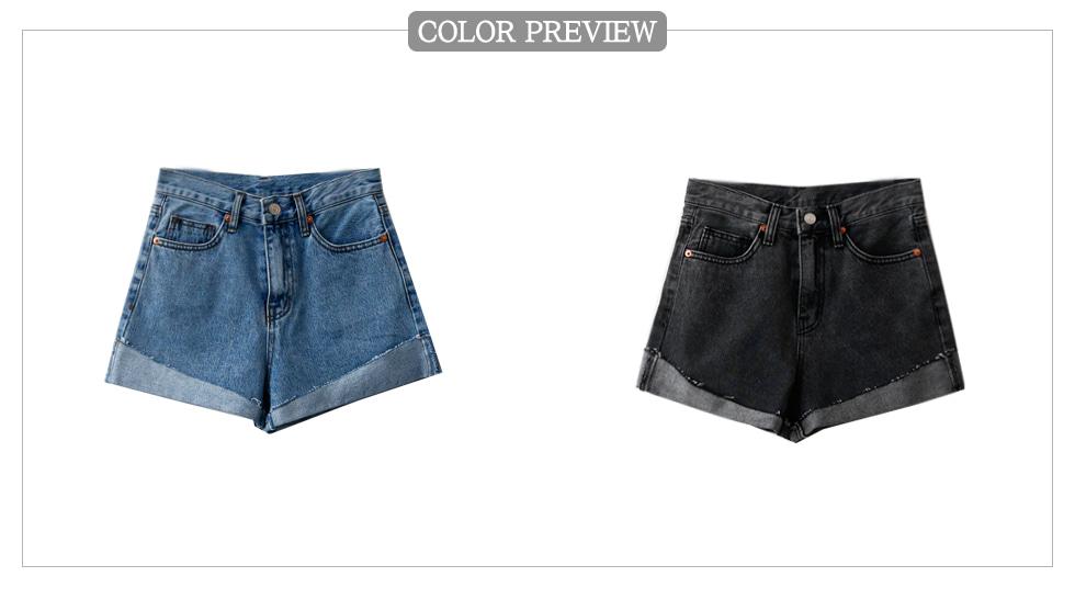 Unfoot roll-up denim shorts