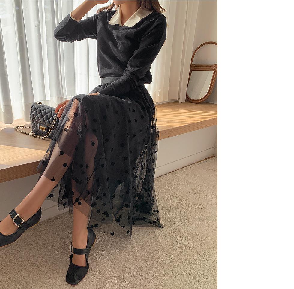 Clover flared skirt