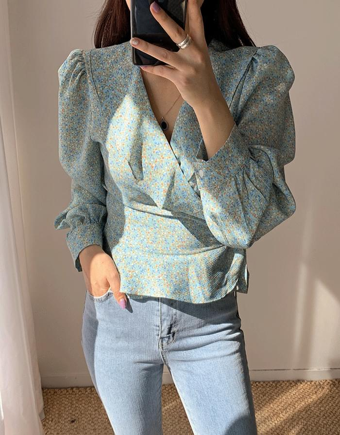 韓國空運 - Floral Lab Blouse 襯衫