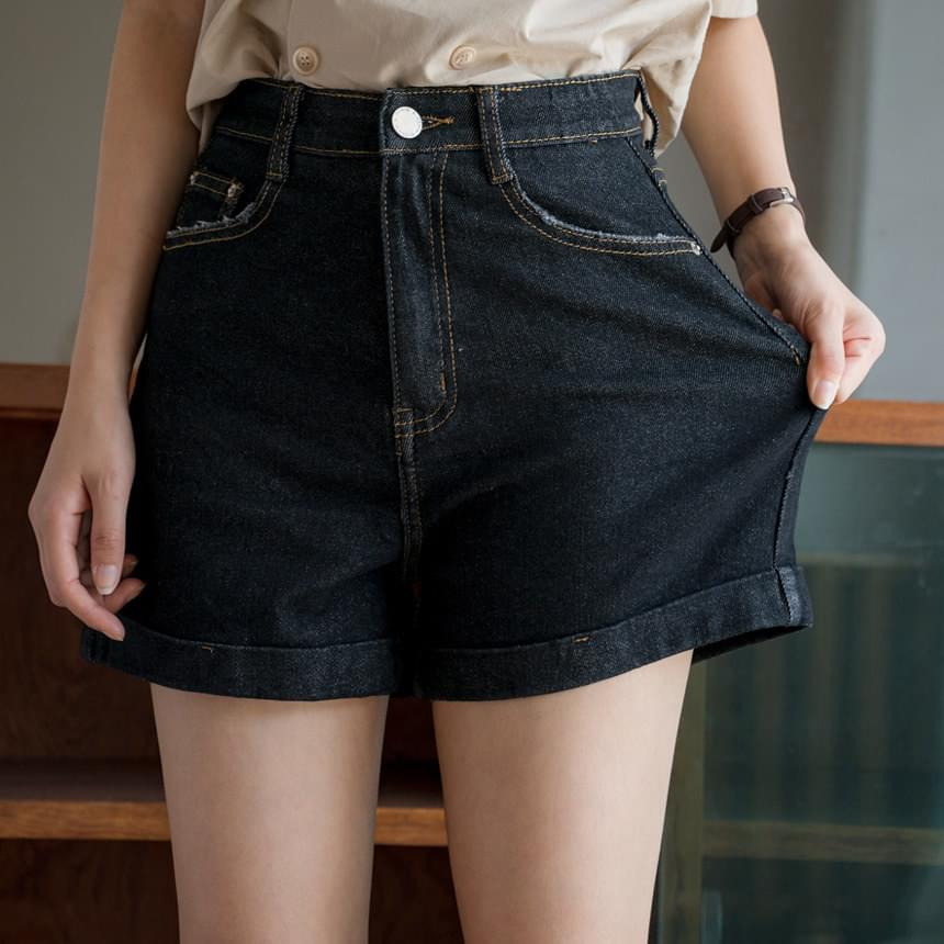 Chewy roll-up denim shorts