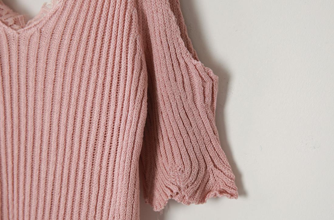 Thumb Shoulder Ribbon Sleeveless