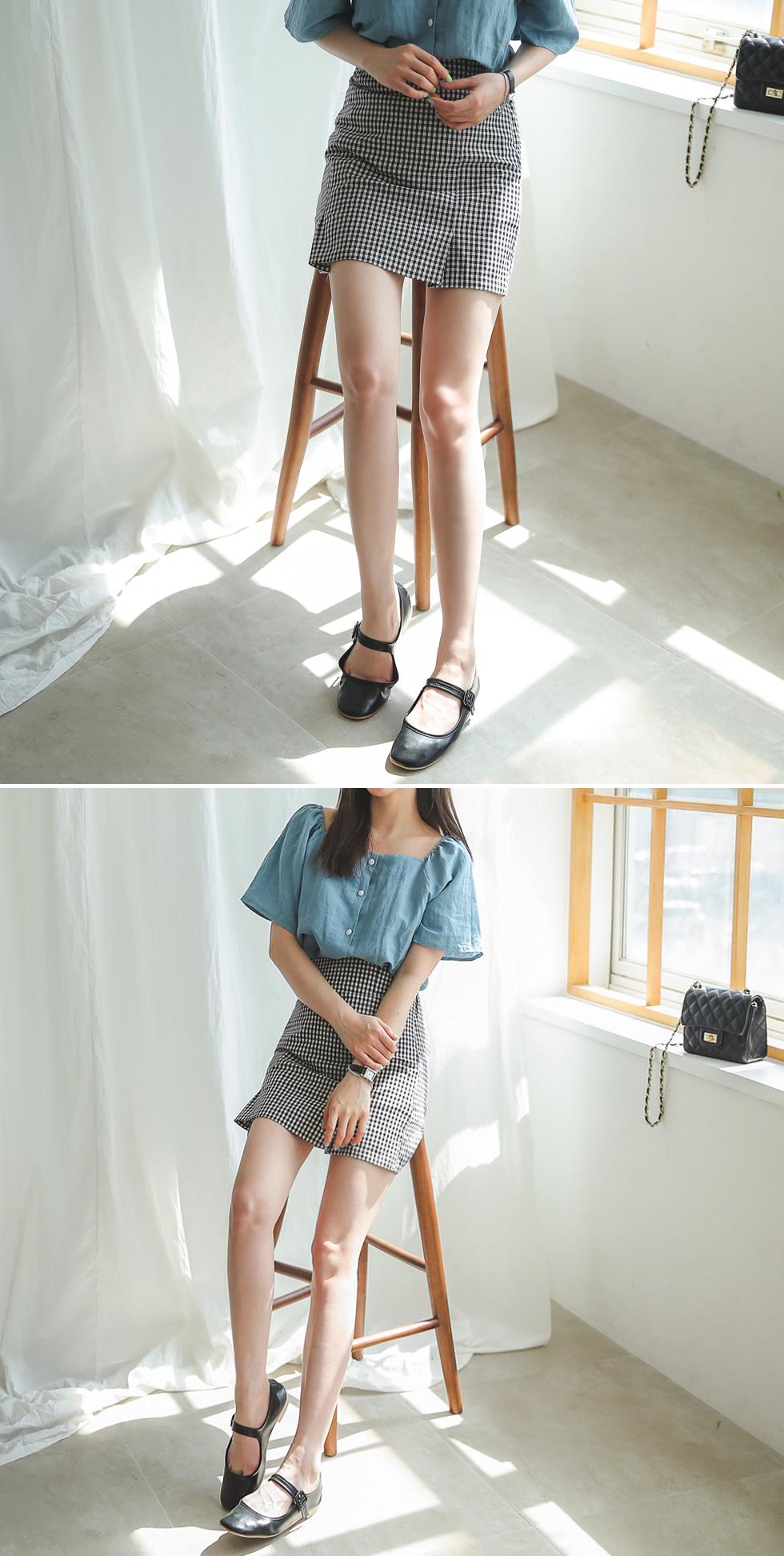 Check slit skirt