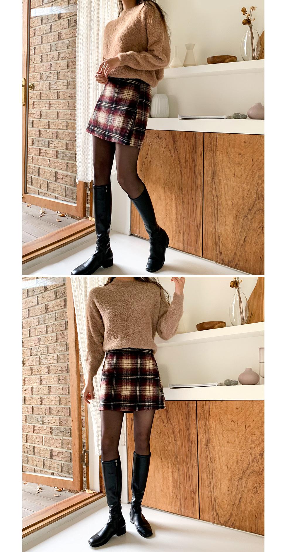 Andante check skirt