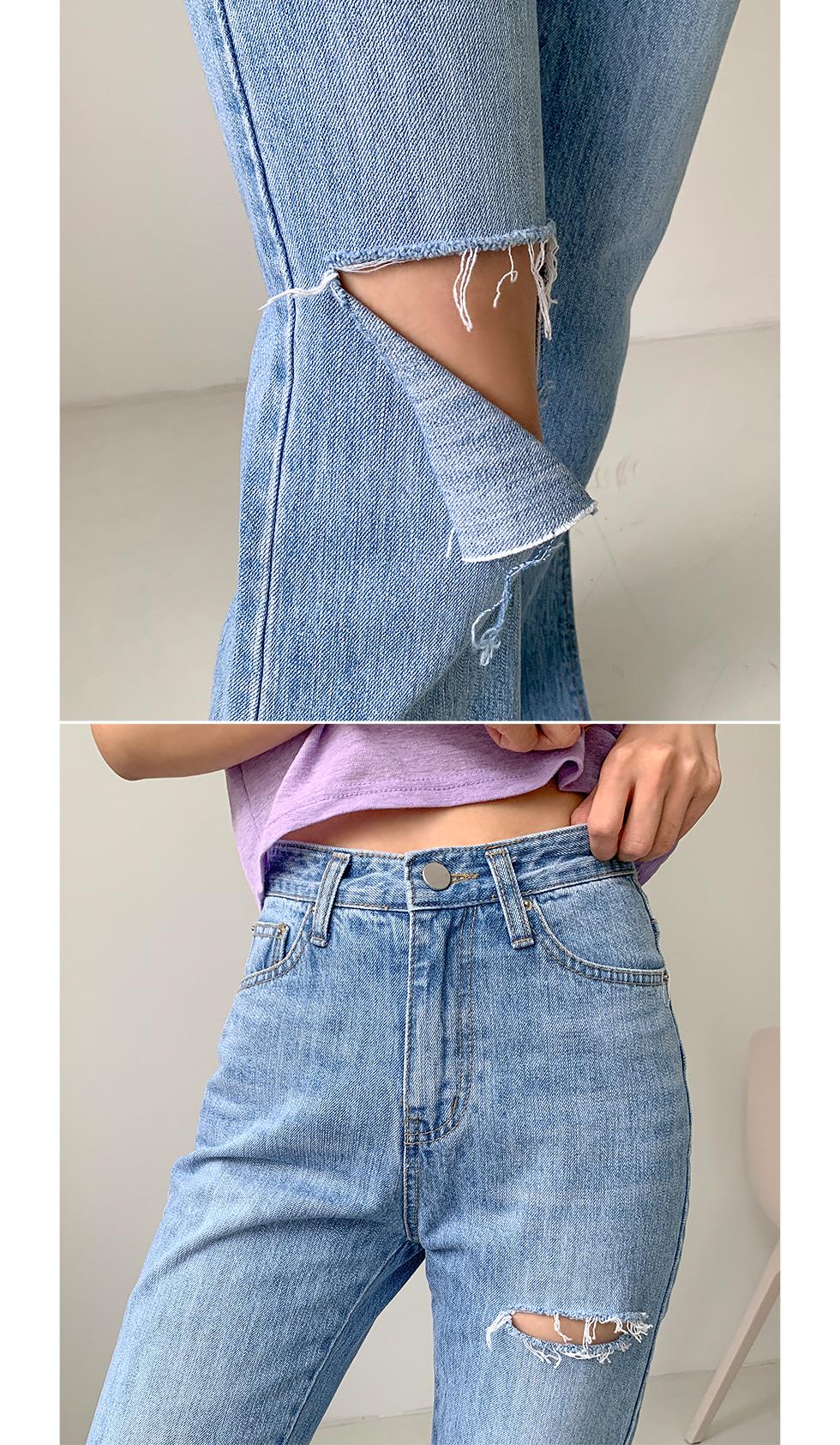 Double cut wide pants