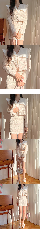 Wendy Tweed Mini Skirt 3color