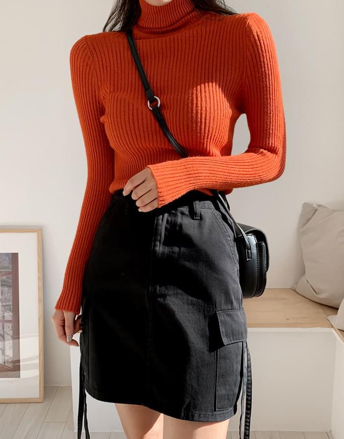 Carat Ribbed Turtleneck Knitwear