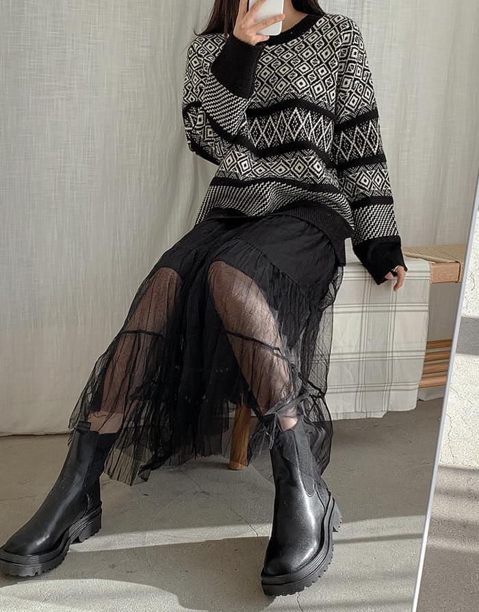 Rough cancance skirt