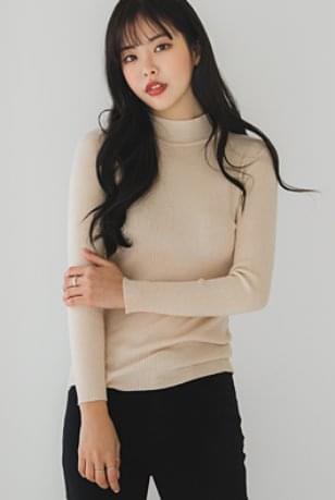韓國空運 - Half Ribbed Ribbed Knitwear Top 針織衫
