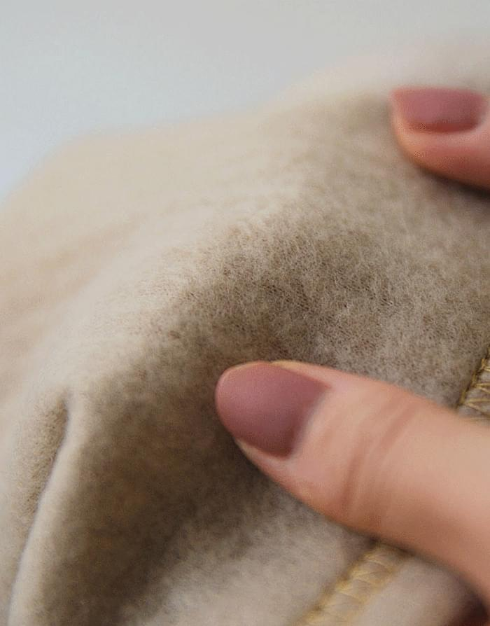 Straight Ribbed Fleece-lined skirt