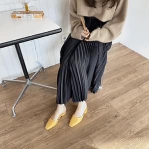 Spring leg nose mule slippers 2cm 涼鞋