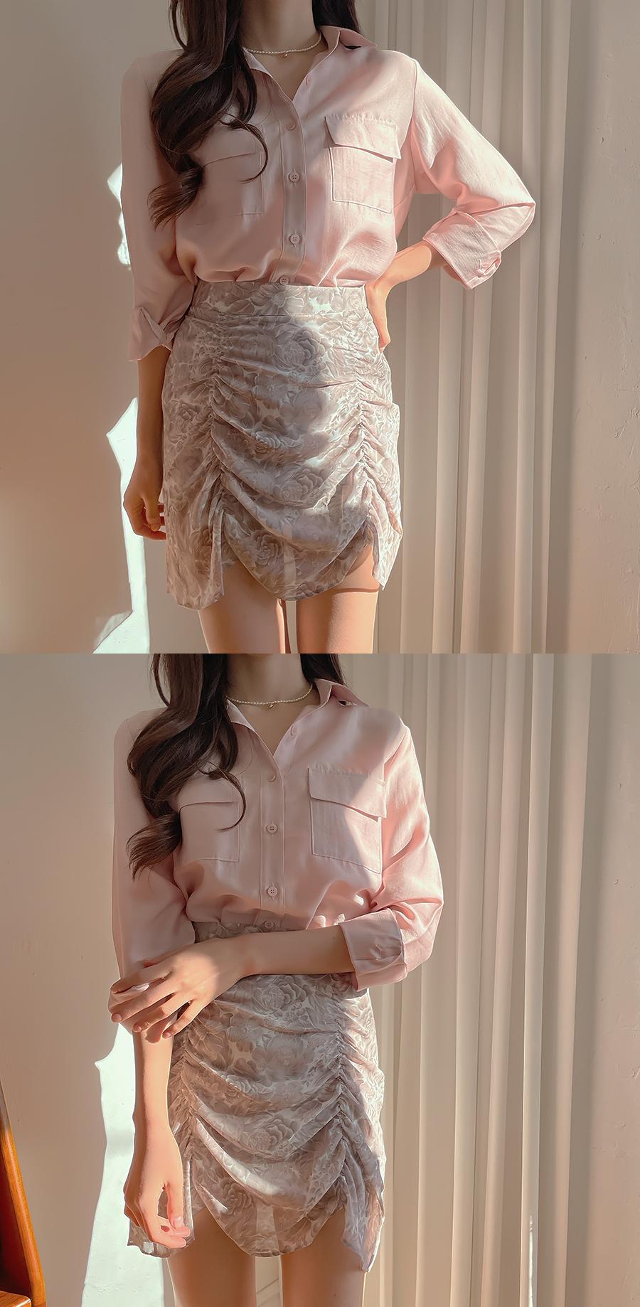 Peak Shatin Two Pocket Shirt Blouse 4color