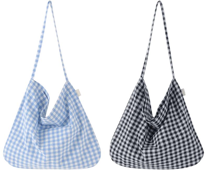 Allson Check Cotton Eco Bag