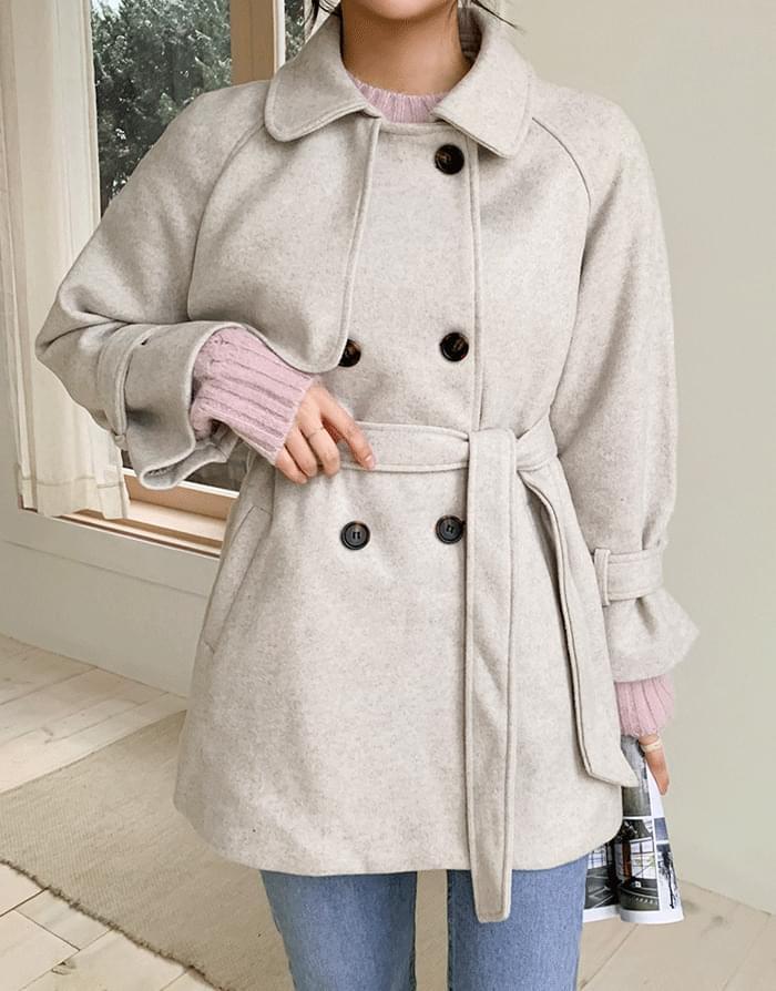 韓國空運 - Auto Wool Half Coat 大衣外套