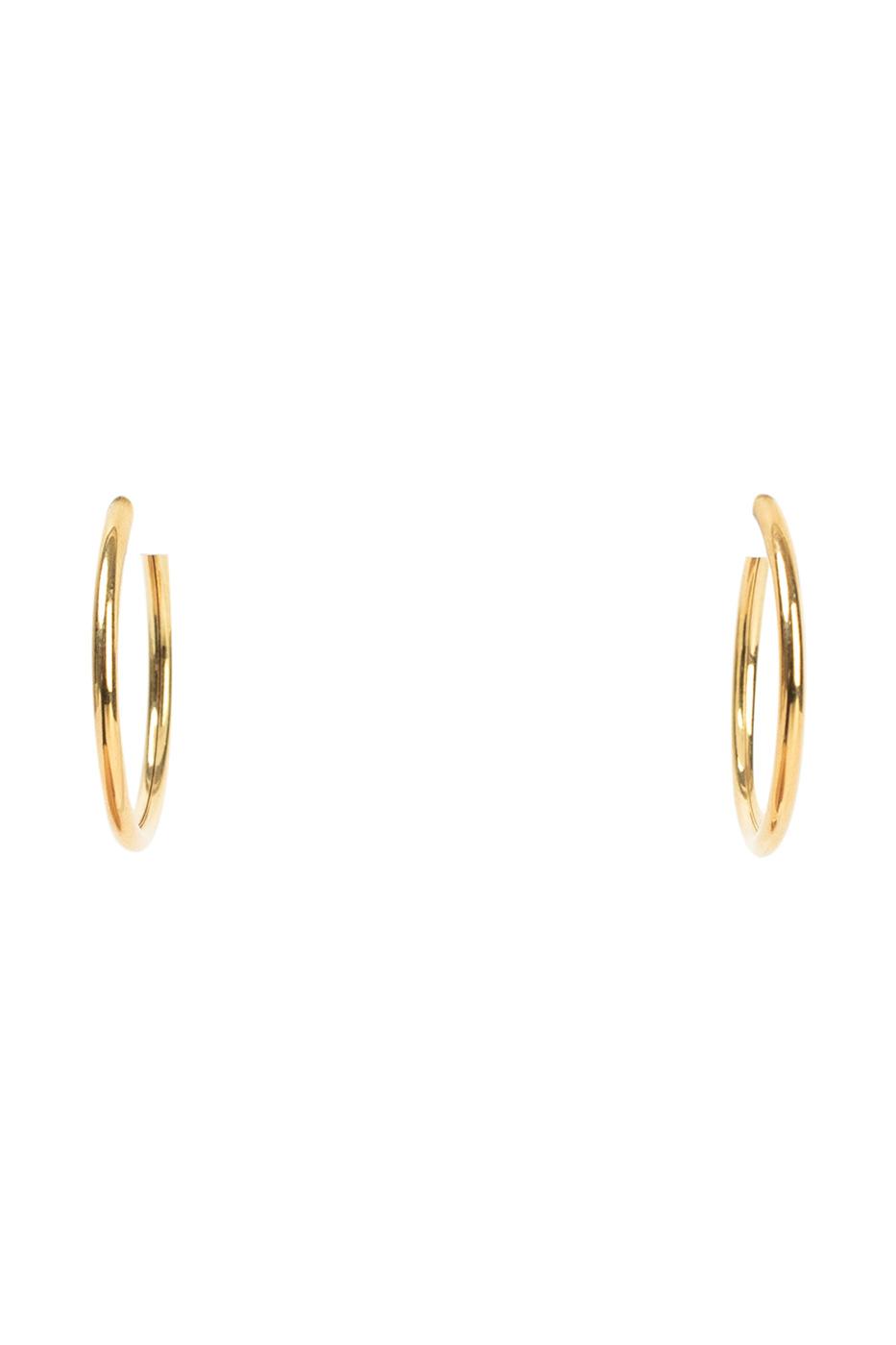 Simple big circle earrings