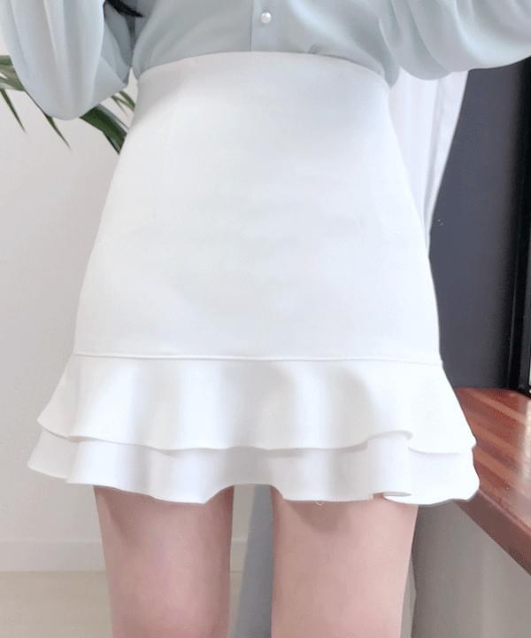 愛麗絲夢遊 雙層荷葉邊迷你裙