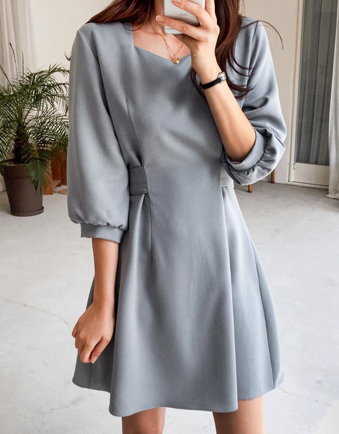 韓國空運 - Loving Oil Dress 及膝洋裝