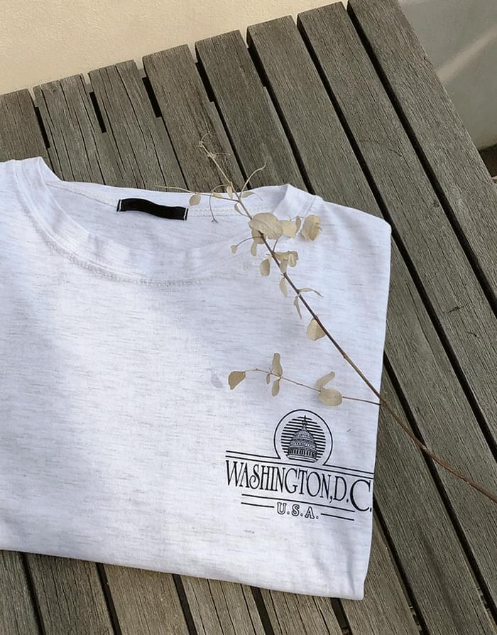 韓國空運 - Washington Box T-shirt 短袖上衣