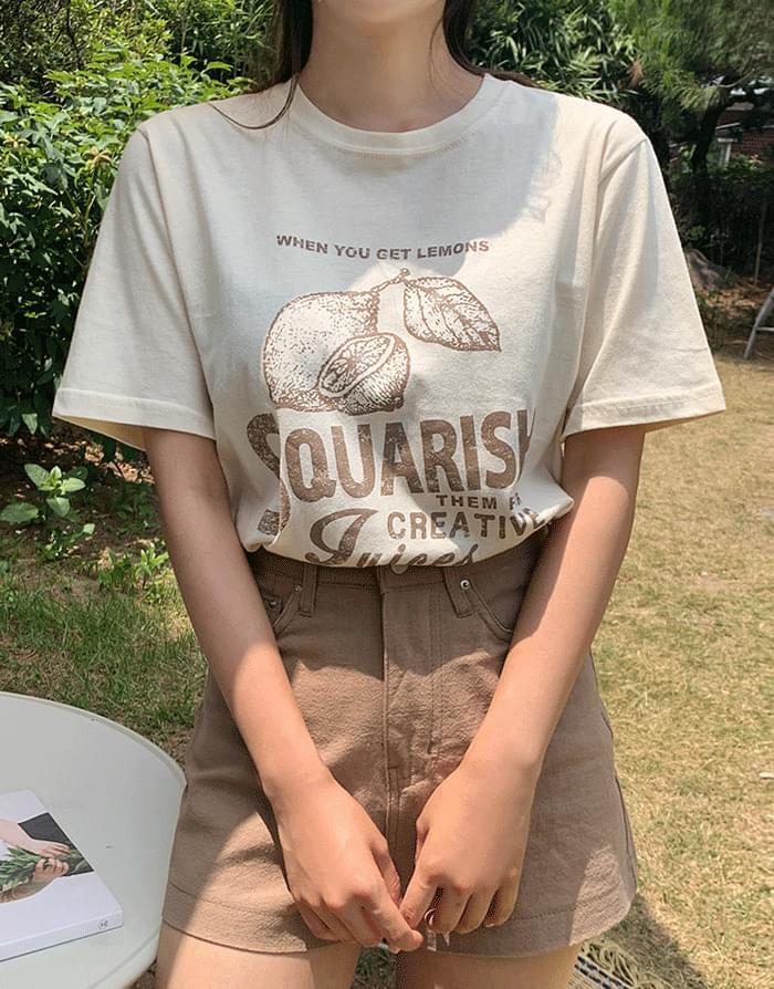 韓國空運 - Lemon T-shirt 短袖上衣