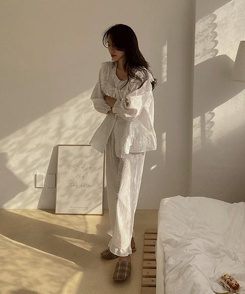 Momo frill pajamas-set