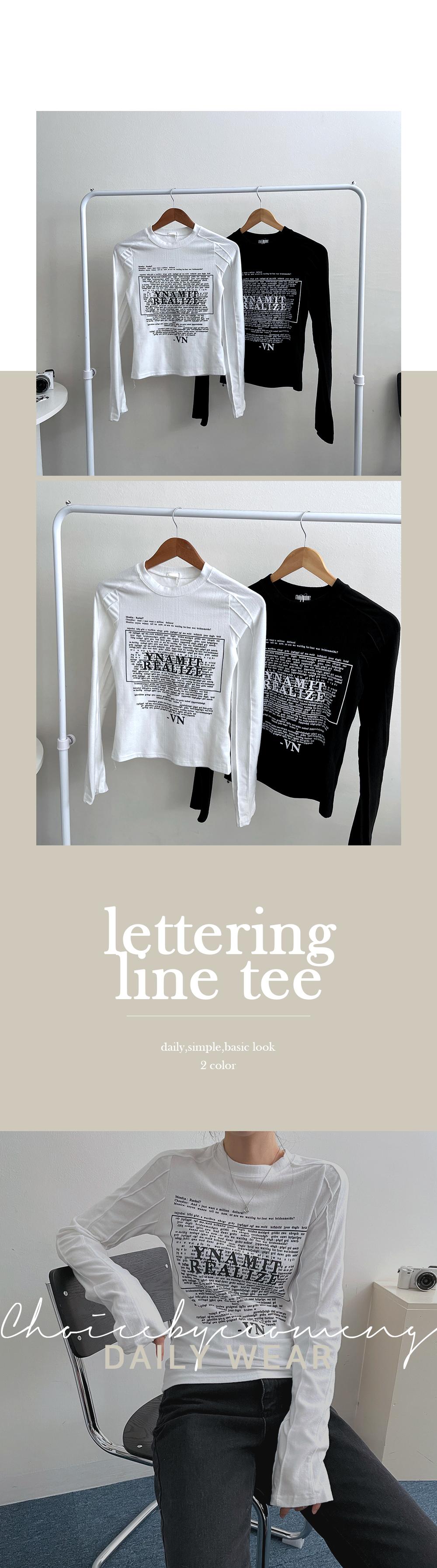 VN Lettering Line Long Sleeve Tee
