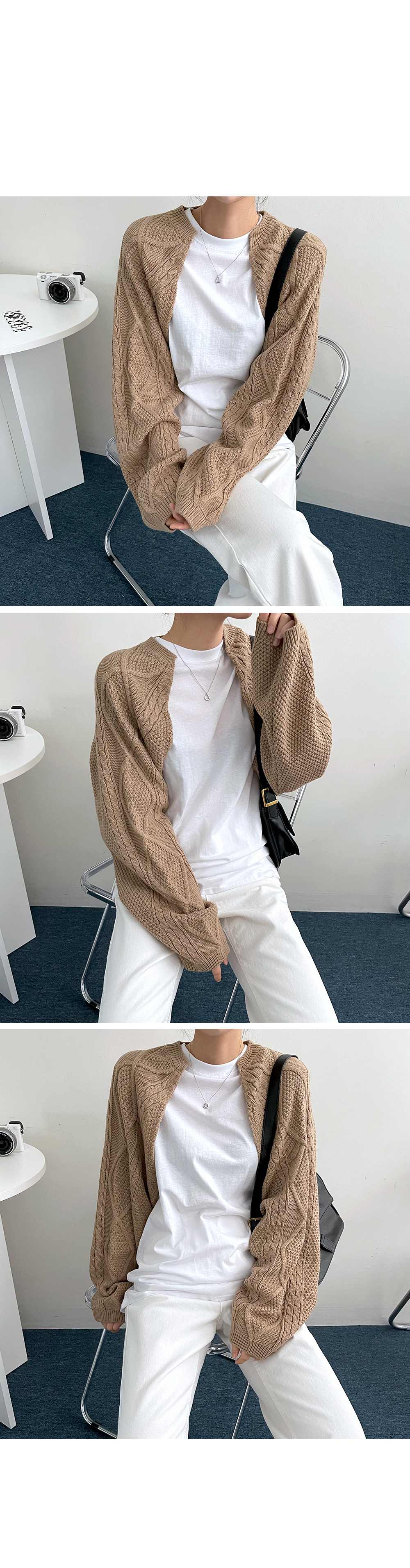 Twisted bolero cardigan
