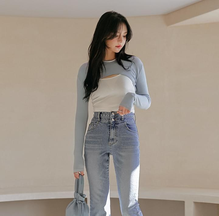 Slim Cami and Cropped T-Shirt Set