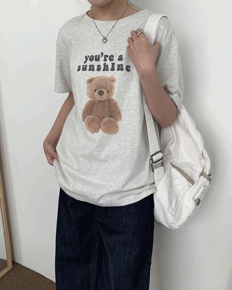 Shuti Bear Bear Short Sleeve T-Shirt