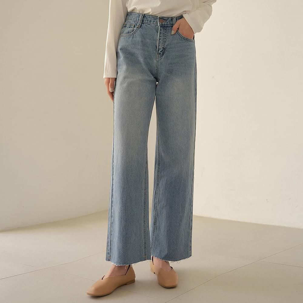 Real wide denim trousers