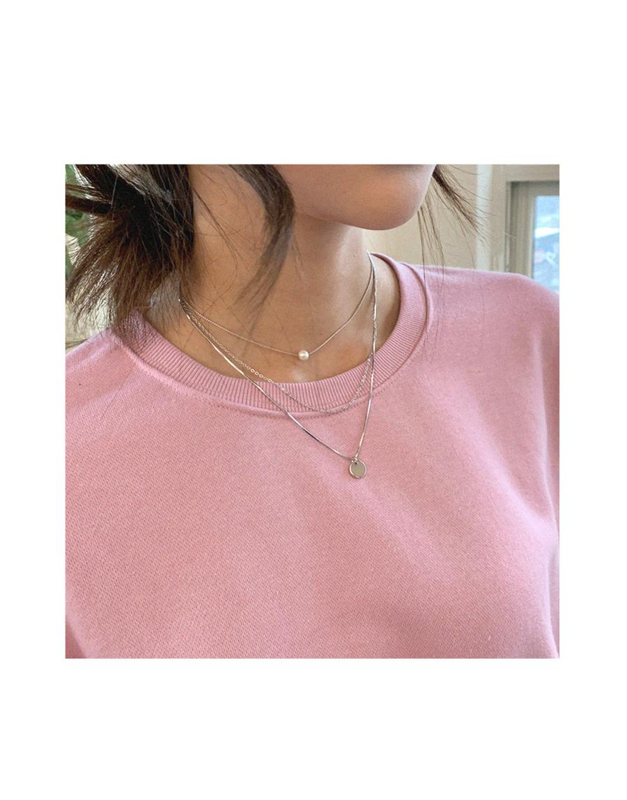 Love Affair Silver Triple Necklace Set