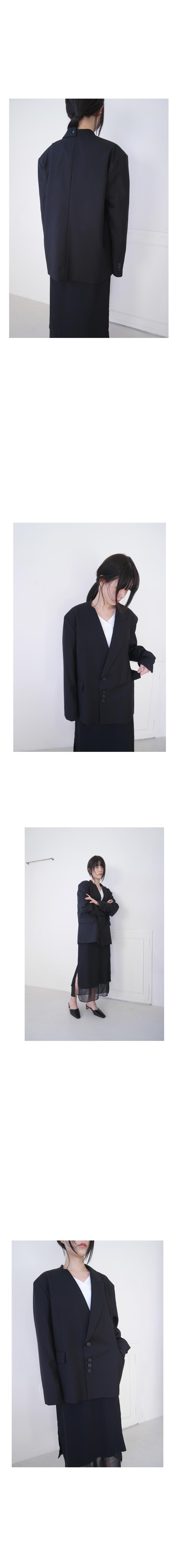 half lapel double jacket