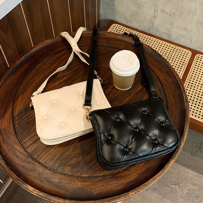 Lovely Simple Minimalist Quilted Crossbody Bag