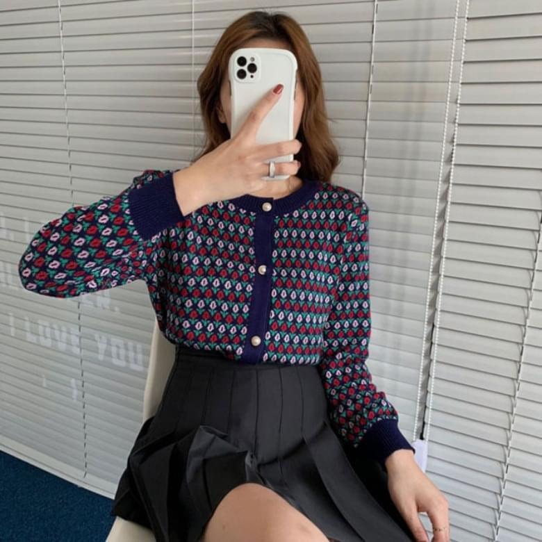 Jacquard Sweater Knitwear Jacket Cardigan