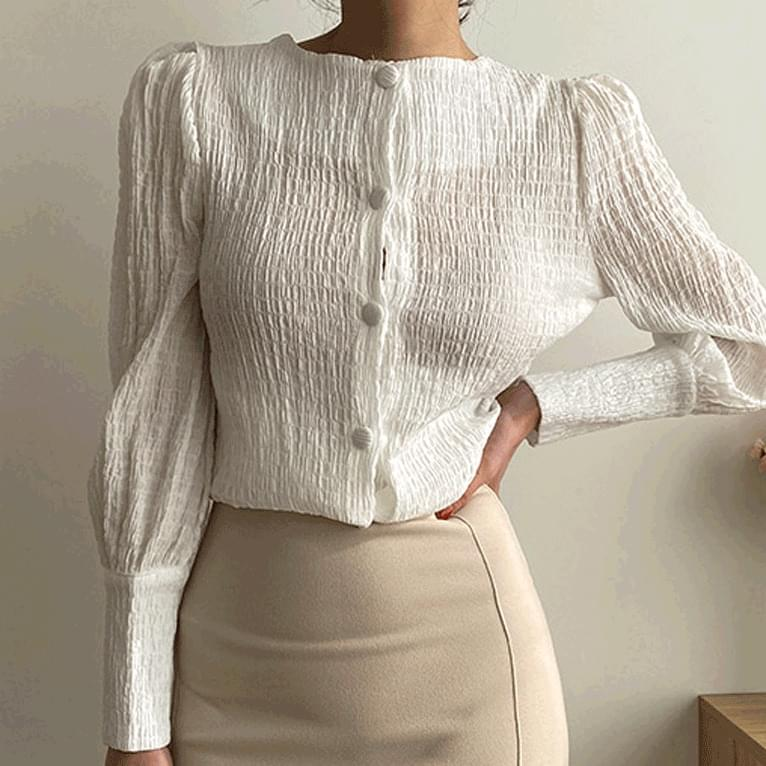 Scella ruched blouse