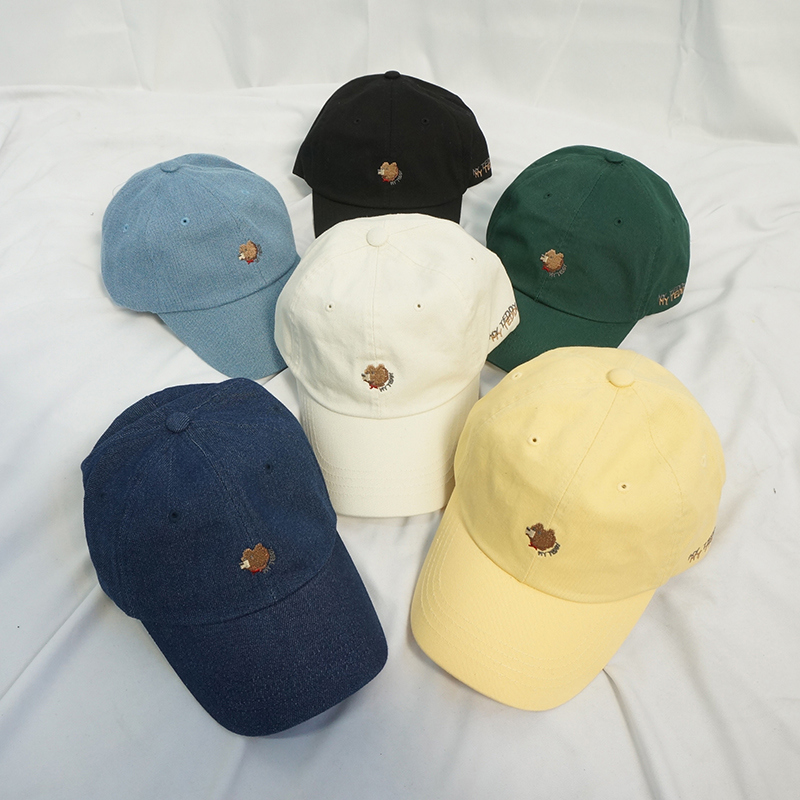 Bear embroidered ball cap