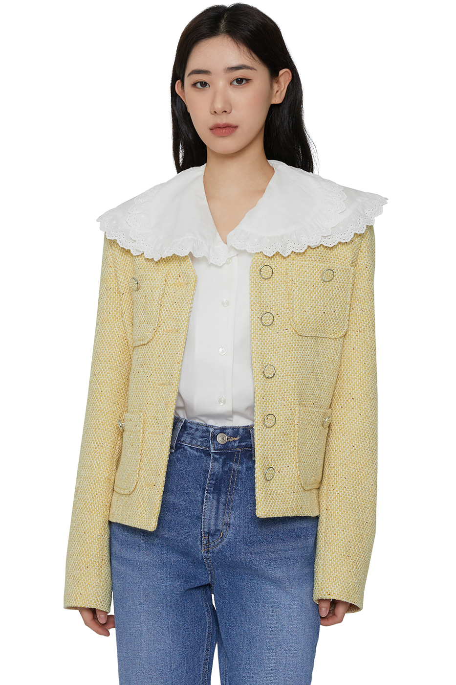 Doubling collar blouse