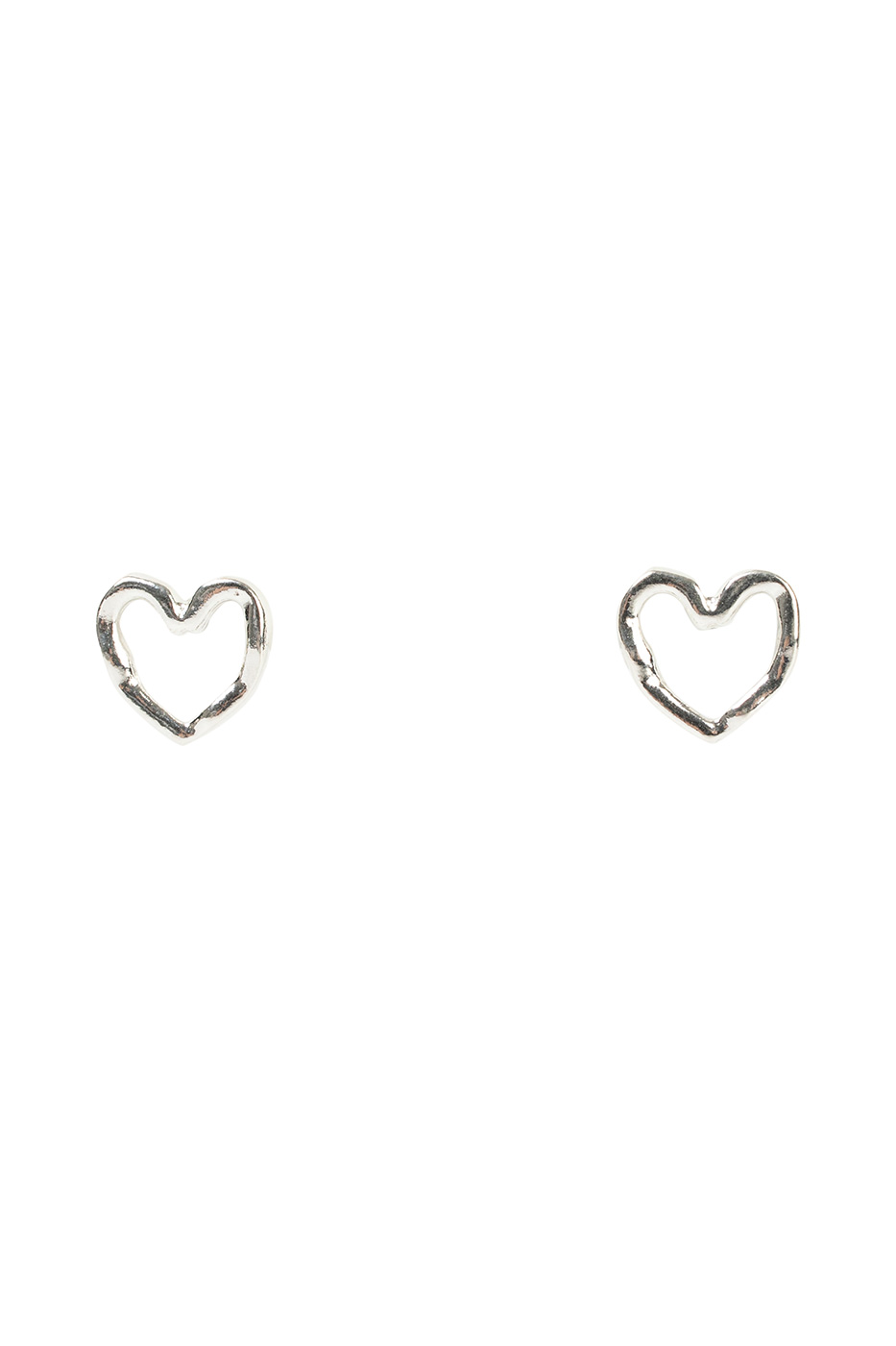 Heart crunch earrings