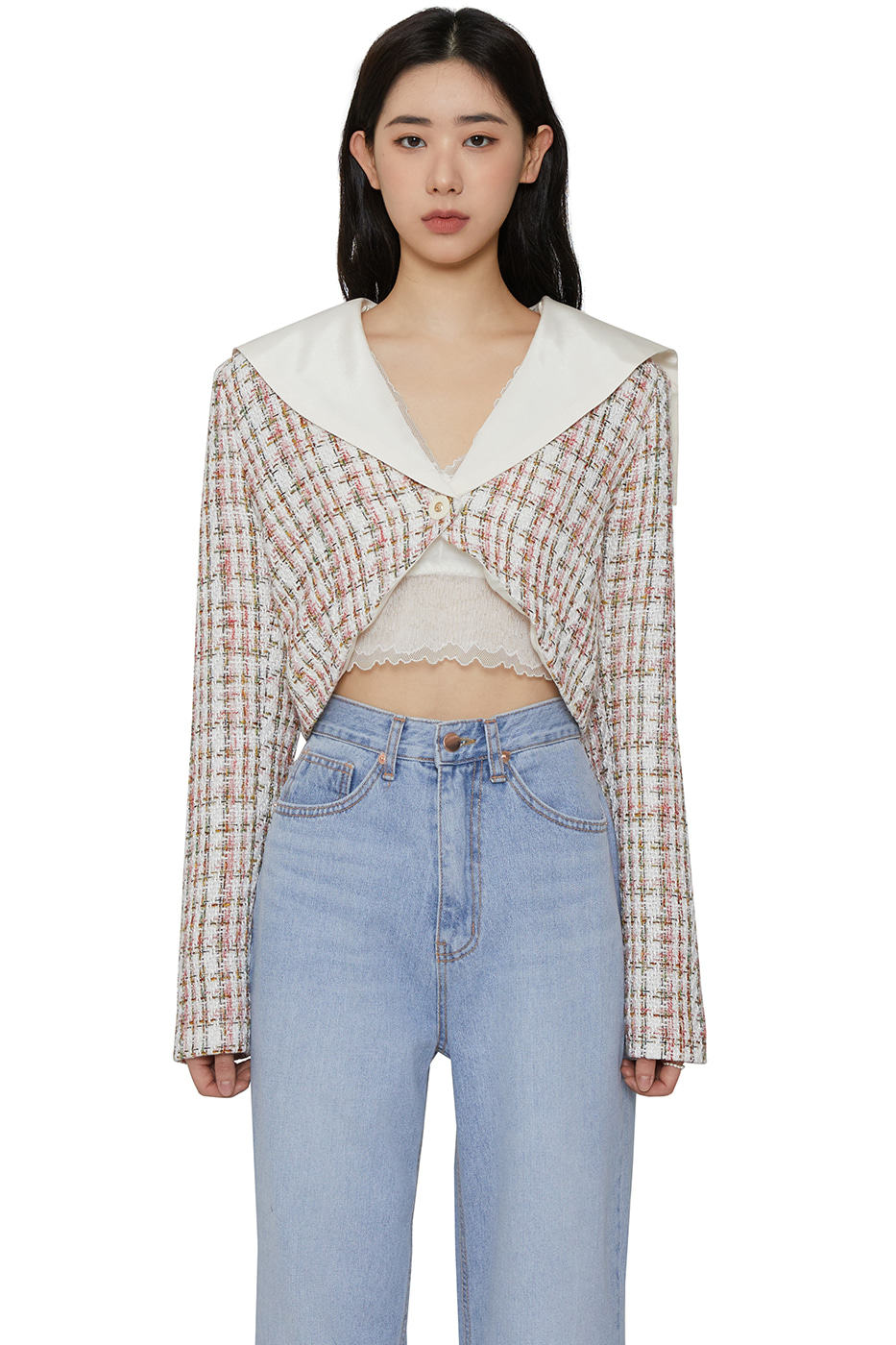 Et crop tweed jacket