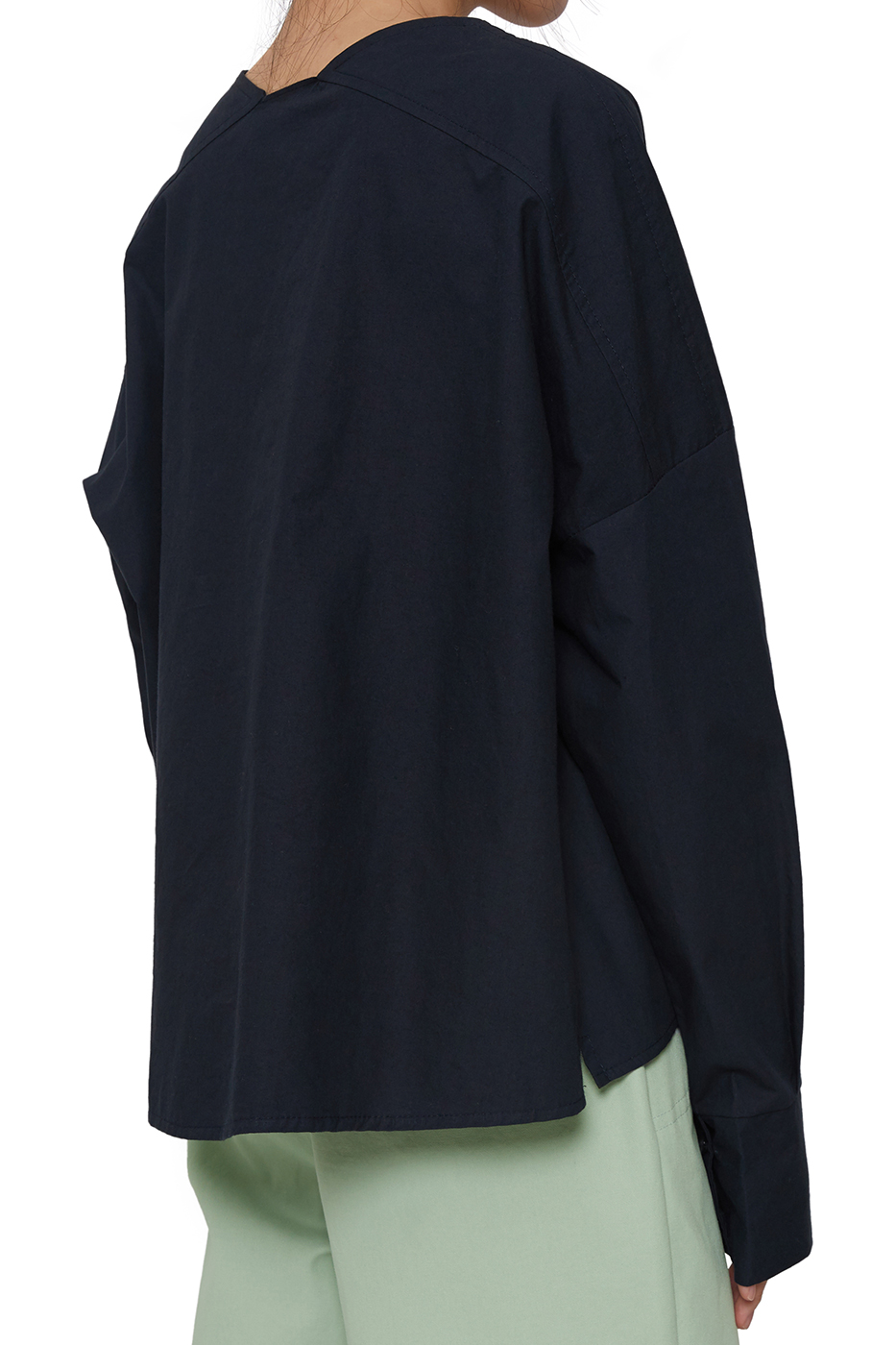 Nob wrap cotton blouse