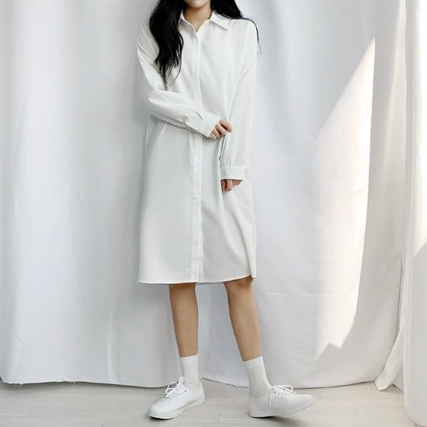 Yeoriyeori Long Boxy Shirt Dress