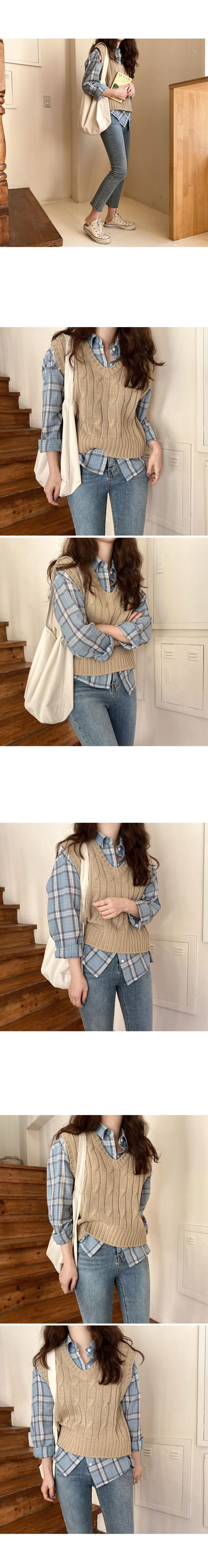 Warner Semi-Crop Knitwear Vest
