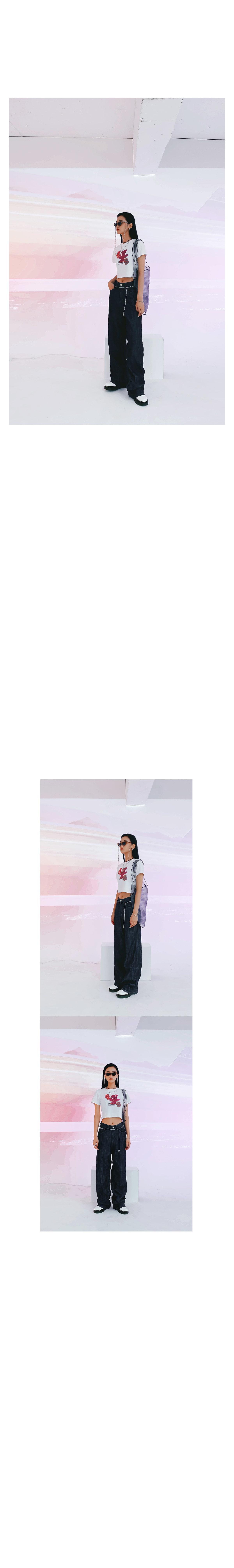 Pink Bear Crop T-shirt