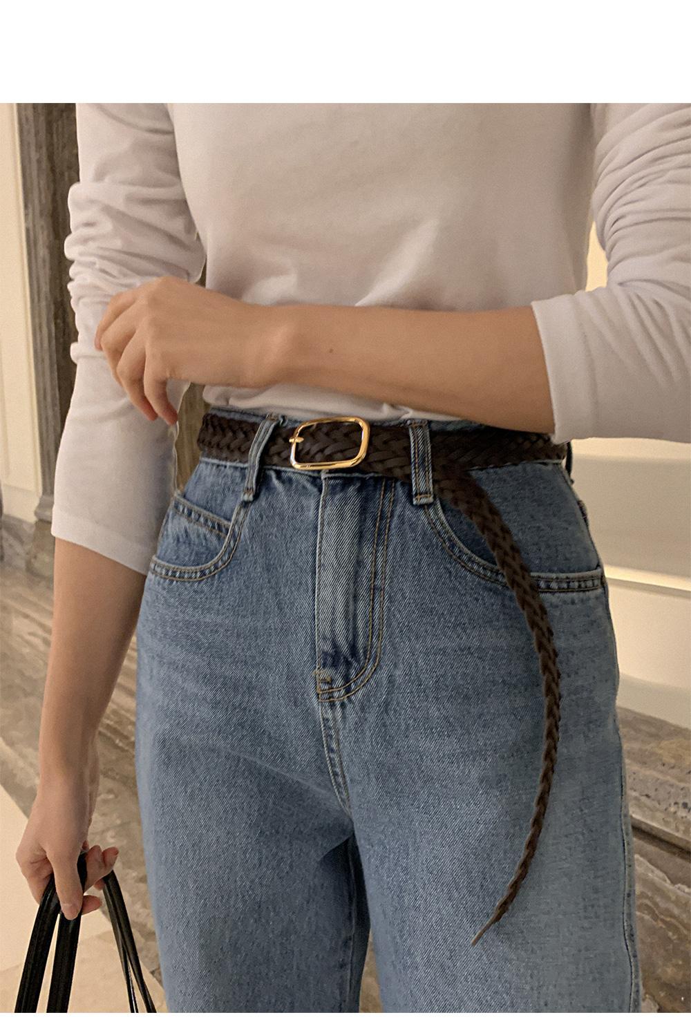 Twisted twist buckle belt