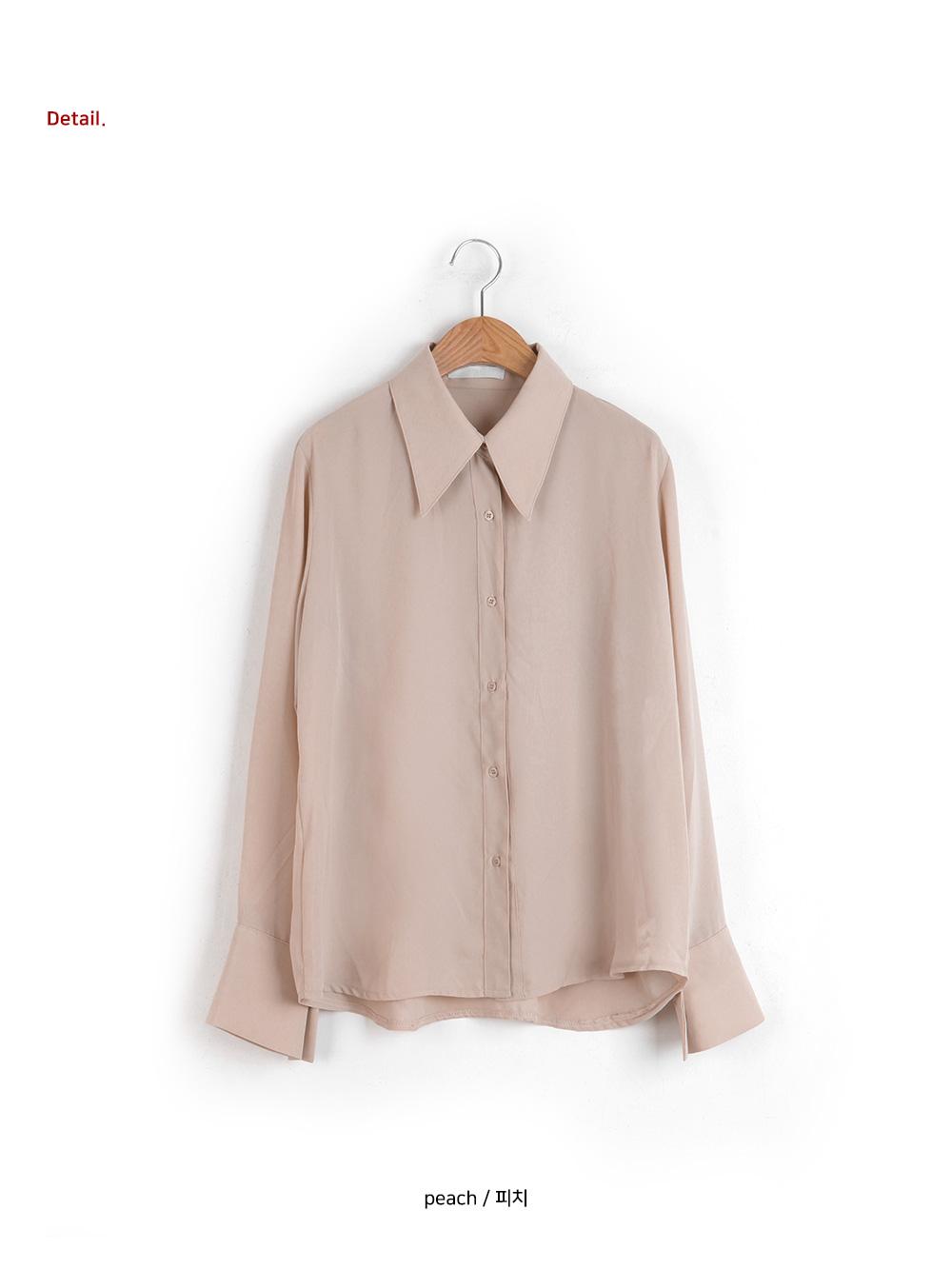 Midi collar chiffon blouse