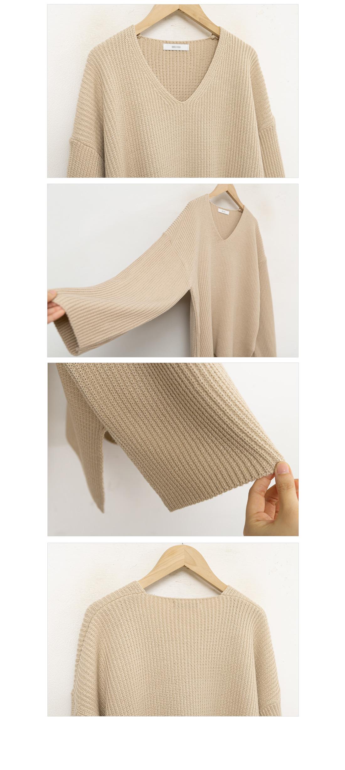 Soft V-Neck Knitwear #108866