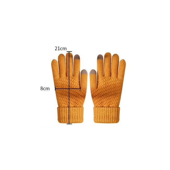 Waffle Smart Touch Knitwear Gloves