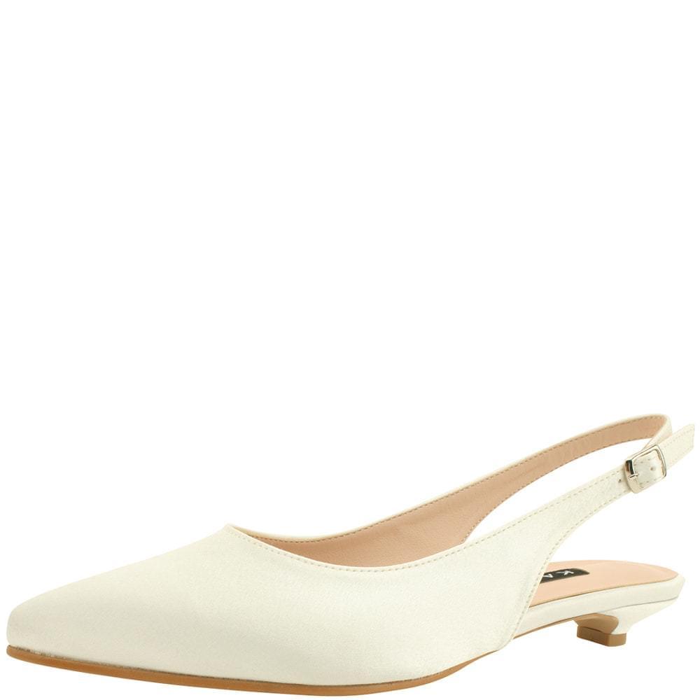 Wedding Shoes Stiletto Slingback Low Heel 2cm