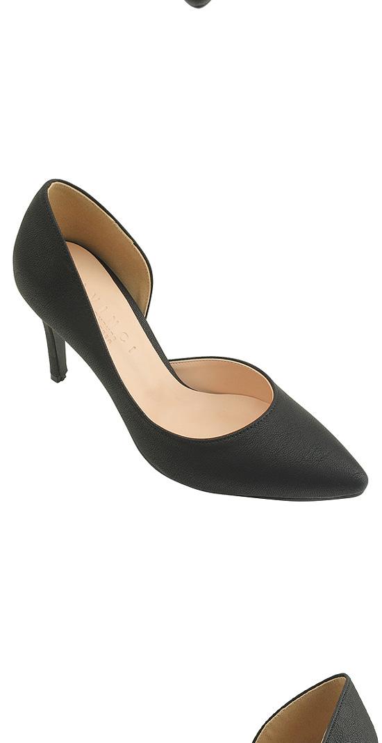 Inside Open Stiletto High Heels Black