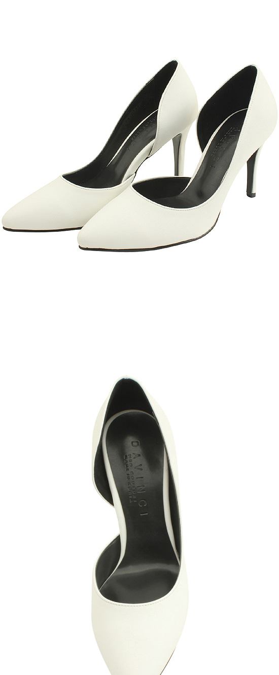 Inside Open Stiletto High Heels White