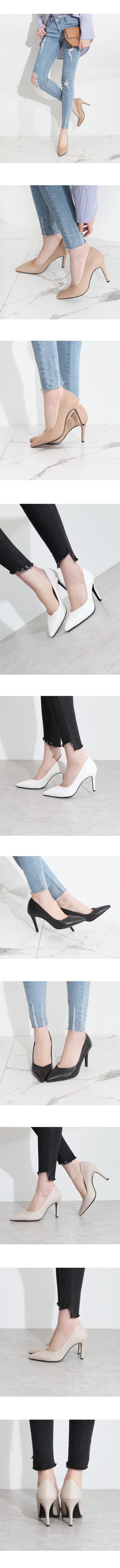 Slim Stiletto High Heels 9cm Black